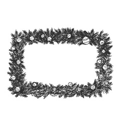 hand sketch of Christmas frame vector image