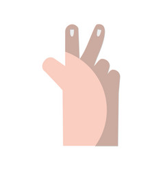 Hand with finger sign and nails design vector