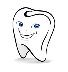 isolated of smiling tooth vector image