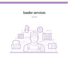 loader services vector image