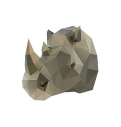 Low poly rhino vector
