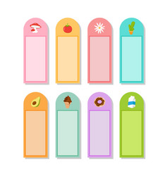 Memo sticker design vector