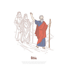 Moses prophet legendary figure bible story vector