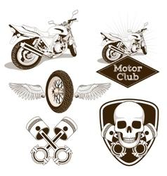 Motorcycle club logo emblem vector