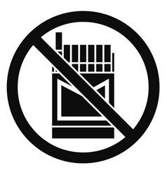 No cigarette pack icon simple style vector