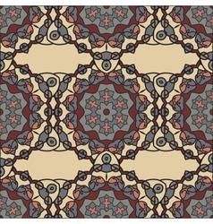 Ornate Mandala Background for greeting card vector