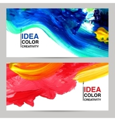 Paint Banner Set vector image