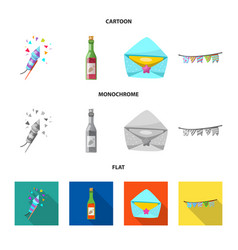 party and birthday logo vector image