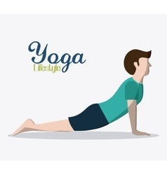 People doing yoga desgin vector
