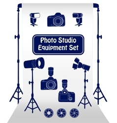 Photo studio set vector image