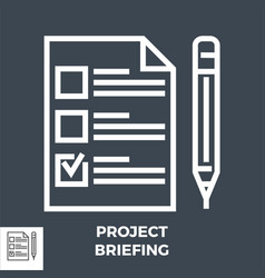 project briefing line icon vector image