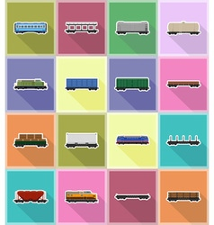 Railway transport flat icons 18 vector