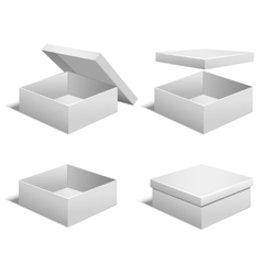 Realistic Template Blank White Boxes Set vector