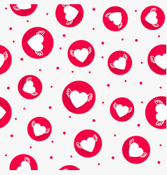 red love seamless pattern with hearts vector image