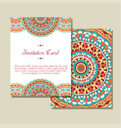 retro card with mandala vintage background with vector image