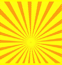 retro comic yellow background with stripes and vector image