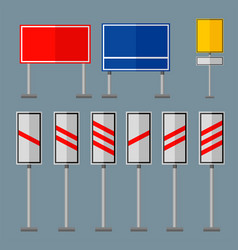Road symbols traffic signs graphic elements vector