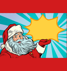 santa claus promotinal copy space vector image