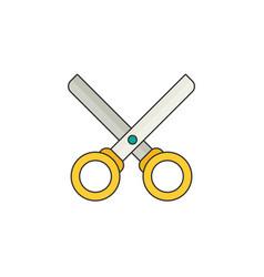 Scissors flat vector