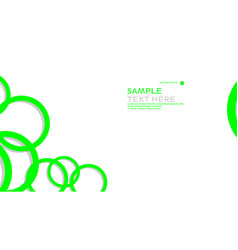 simple circles background with color green and vector image