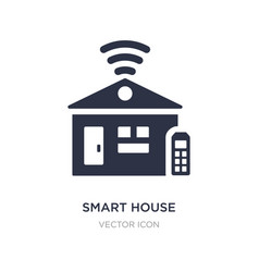 smart house icon on white background simple vector image