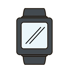 smartwatch device isolated icon vector image