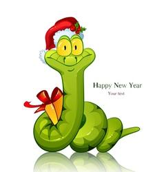 snake symbol new 2013 year vector image