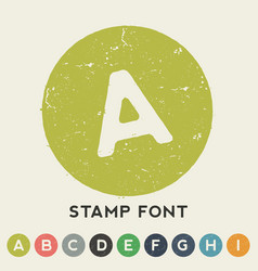 Stamp font template vector