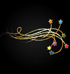 stars and golden curls vector image
