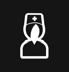 Stylish black and white icon medical worker vector