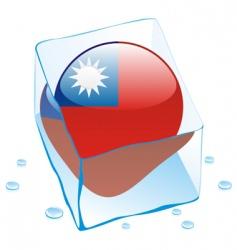Taiwan flag vector image