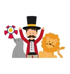 Tamer circus cartoon vector image