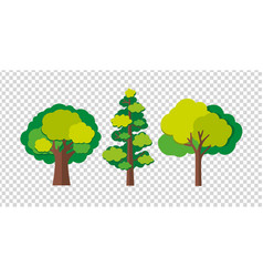 three trees in different shapes vector image