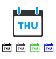 Thursday calendar page flat icon vector