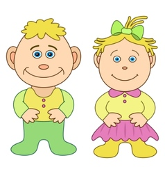 toys boy and girl vector image