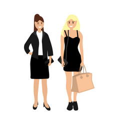 two beautiful women vector image