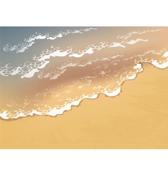 Wave on the beach vector