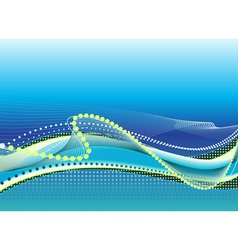 Abstract light blue background with waves vector image vector image