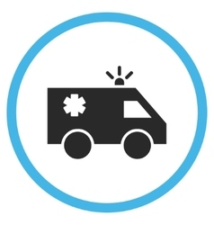 Emergency Car Flat Rounded Icon vector image vector image