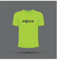 lime green t-shirt vector image vector image