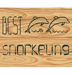 logo best snorkeling vector image vector image