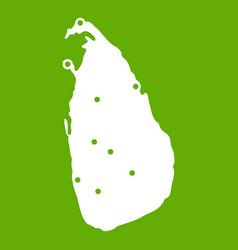 map of sri lanka icon green vector image