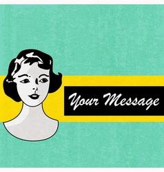Retro Message Background vector image vector image
