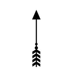 rustic arrow with ornamental design vector image vector image