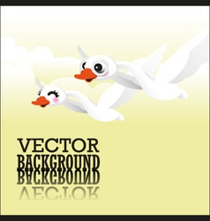 Swan flying vector image vector image