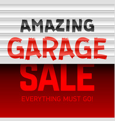 amazing garage sale poster template vector image