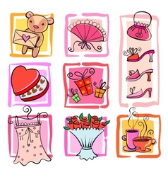 Gift Ideas for girl vector image