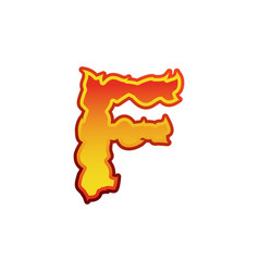 letter f fire flames font lettering tattoo vector image