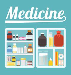 medicine cupboard vector image