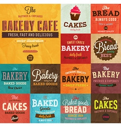 Retro Bakery Labels vector image vector image